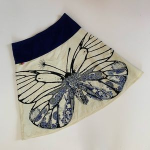 Anthropologie Oilily Butterfly Skirt Size 40